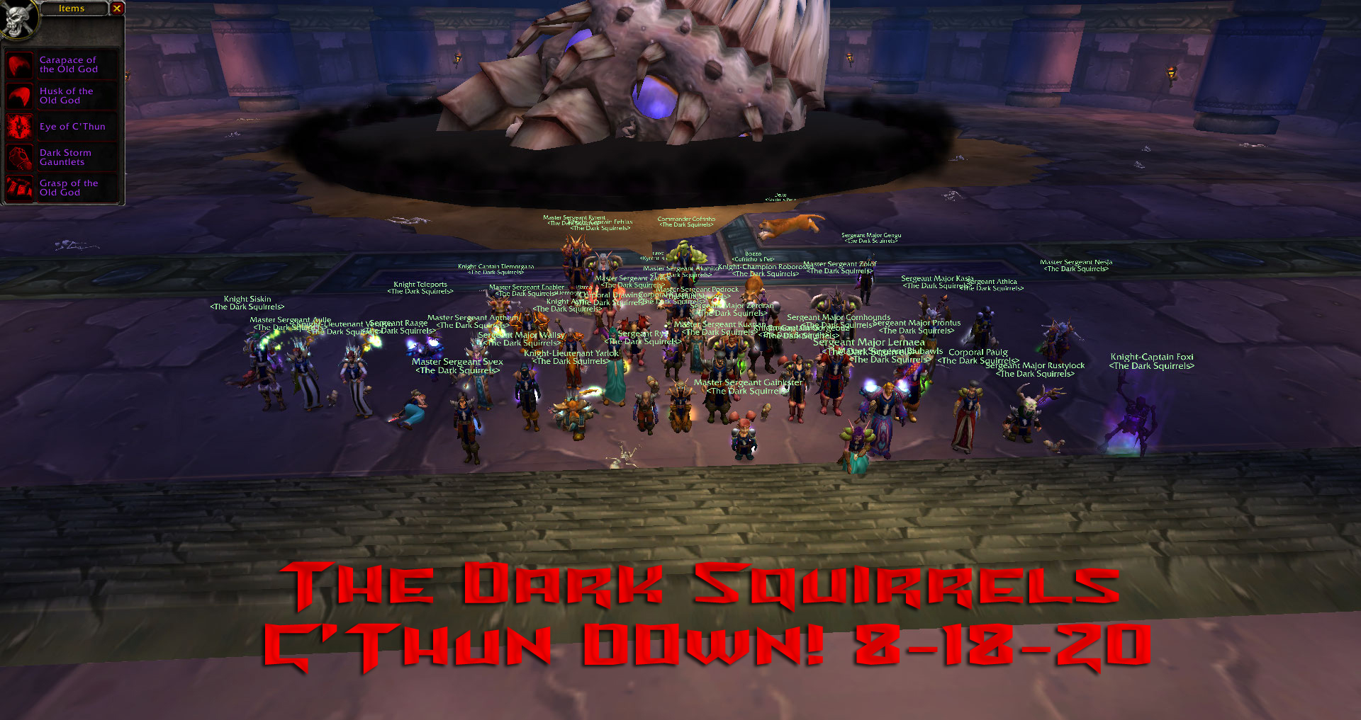 The Dark Squirrel Tds Alliance Mannoroth Cho Gall Pvp Realms